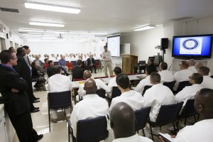 Rick Perry shares his faith with Seminary Students in Darrington Penitentiary